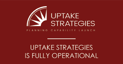 Uptake Strategies is fully operational