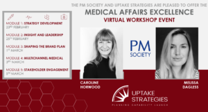 Medical Affairs Excellence virtual event with PM Society, dates and facilitators